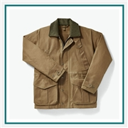 Filson Men's Tin Cloth Field Jacket 11010003 with Custom Embroidery, Filson Custom Tin Cloth Jackets, Filson Custom Logo Gear
