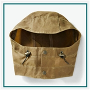 Filson Men's Tin Cloth Hood 11010011 with Custom Embroidery, Filson Custom Tin Cloth Hoods, Filson Custom Logo Gear