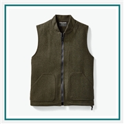 Filson Men's Wool Vest Liner 11010033 with Custom Embroidery, Filson Custom Work Vests, Filson Custom Logo Gear