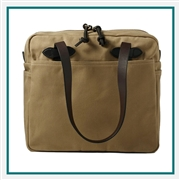 Filson Rugged Twill Tote Bag With Zipper 11070261 with Custom Embroidery, Filson Custom Tote Bags, Filson Corporate Logo Gear