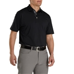 FootJoy Men's Athletic Fit Lisle Solid Gingham Trim Self Collar Custom Embroidered