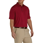 FootJoy Men's Lisle Double Pin Stripe Self Collar Custom Embroidered