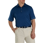 FootJoy Men's Lisle Space Dye Microstripe Self Collar Custom Embroidered