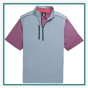 FootJoy Men's Half-Zip Heather Blocked Vest Custom Embroidered