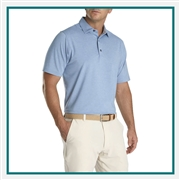 FootJoy Men's Solid Lisle Self Collar Custom Embroidered