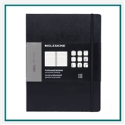 Moleskine Hard Cover Pro Ruled XL Notebook Deboss Logo