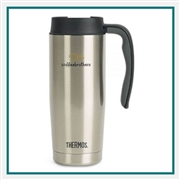 Thermos 16 Oz Stainless Travel Mug with Custom Engraving, Custom Logo Thermos Travel Mugs, Custom Engraved Thermos Tumblers, Corporate Thermos Bottles, Thermos Custom Logo, Custom Thermos, Thermos Corporate Sales