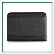 Samsonite Parker Leather Padfolio 95052 With Custom Debossed Logo, Samsonite Promotional Padfolios, Samsonite Corporate Padfolios