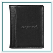 Samsonite Leather Passport Wallet 95062Custom Debossed Logo, Samsonite Promotional Passport Holder, Samsonite Travel Gifts