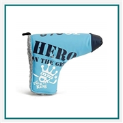 Custom Blade Putter Cover, Printed Leather Putter Cover