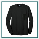 Gildan Ultra Cotton LS Pocket T-Shirt Custom Embroidery