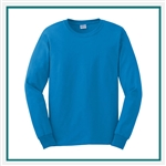 Gildan Ultra Cotton  Cotton Long Sleeve T-Shirt G2400 with Custom Embroidery, Custom Embroidered Hanes T-Shirts, Gildan G2400 T-Shirt Best Price