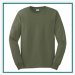 Gildan Ultra Cotton  Cotton Long Sleeve T-Shirt G2400 with pocket with Silkscreen Logo, Custom Logo Gildan T-Shirts, Gildan G2400 T-Shirt Best Price