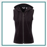 Greg Norman Ladies Reign Pique Velour Vest with Custom Embroidery, Greg Norman Custom Vests, Greg Norman Custom Logo Gear