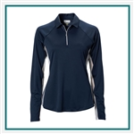 Greg Norman Women's XP Mesh Panel 1/4-Zip Polo Custom Embroidered
