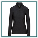 Greg Norman Women's Heathered 1/4-Zip Mock Custom Embroidered