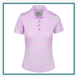 Greg Norman ML75 Microlux Stripe Polo Custom Embroidered