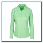 Greg Norman W Solar XP 1/4-Zip Wave Polo with Custom Embroidered