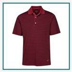 Greg Norman ML75 Classic Bar Stripe Polo Custom Embroidered