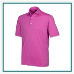 Greg Norman Men's ML75 Shadow Stripe Polo with Custom Embroidery, Greg Norman Custom Polos, Greg Norman Custom Logo Gear