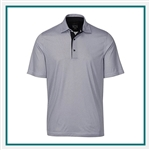 Greg Norman Men's ML75 Dot Foulard Print Polo with Custom Embroidery, Greg Norman Custom Polos, Greg Norman Custom Logo Gear