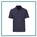 Greg Norman Heathered Stretch Stripe Polo Custom Embroidered