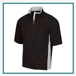 Greg Norman Men's Short Sleeve Weatherknit Rain Jacket with Custom Embroidery, Greg Norman Custom Jackets, Greg Norman Custom Logo Gear