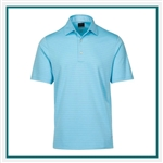 Greg Norman Men's ML75 Tonal Stripe Polo with Custom Embroidery, Greg Norman Custom Polos, Greg Norman Custom Logo Gear
