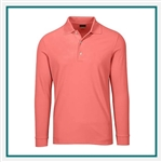 Greg Norman Men's Solar XP Weatherknit LS Pique Polo with Custom Embroidery, Greg Norman Custom Long Sleeve Polos, Greg Norman Custom Logo Gear