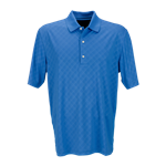 Greg Norman Men's Play Dry Diamond Embossed Polo Custom Embroidered