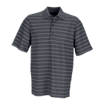 Greg Norman Men's Play Dry Performance Striped Mesh Polo Custom Embroidered
