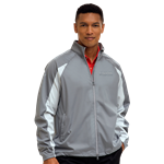 Greg Norman Men's Full Zip Pieced Weatherknit with Custom Embroidery, Greg Norman Custom Rain Jackets, Greg Norman Custom Logo Gear
