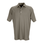 Greg Norman Men's Play Dry Micro Lux Solid Polo with Custom Embroidered