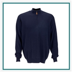Greg Norman Drop-Needle 1/4-Zip Mock Sweater Custom Embroidery