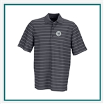 Greg Norman Play Dry Performance Striped Mesh Polo Custom Embroidery