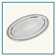 MATCH Pewter Oval Platter, Large 1171.0, MATCH Pewter Custom Trays, Promo Trays