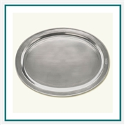 MATCH Pewter Oval Incised Tray 847.1, MATCH Pewter Custom Trays, Promo Trays