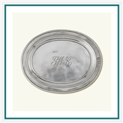 MATCH Pewter Oval Incised Tray 847.2, MATCH Pewter Custom Trays, Promotional Oval Trays, MATCH Pewter Corporate Sales