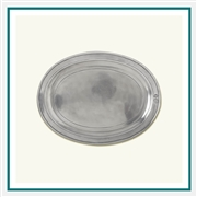 MATCH Pewter Oval Incised Tray Custom
