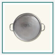 MATCH Pewter Round Tray with Handles A359.0, MATCH Pewter Custom Trays, Promo Trays