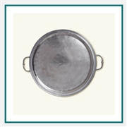 MATCH Pewter Round Tray with Handles A360.01, MATCH Pewter Custom Trays, Promo Trays