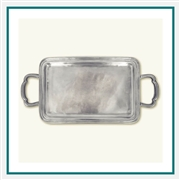 MATCH Pewter Lago Rectangle Tray with Handles, Small A362.0, MATCH Pewter Custom Trays, Promo Trays