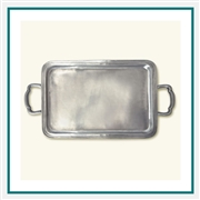 MATCH Pewter Lago Rectangle Tray with Handles, Medium A363.0, MATCH Pewter Custom Trays, Promo Trays