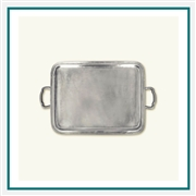 MATCH Pewter Lago Rectangle Tray with Handles, Large A364.0, MATCH Pewter Custom Trays, Promo Trays