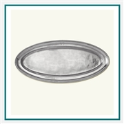 MATCH Pewter Oval Fish Platter, Lungo! A436.0, MATCH Pewter Custom Trays, Promo Trays