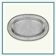 MATCH Pewter Wide Rimmed Oval Platter A442.5, MATCH Pewter Custom Trays, Promo Trays