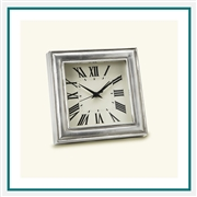 MATCH Pewter Square Custom Alarm Clocks
