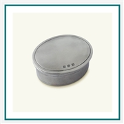 MATCH Pewter Oval Dresser Box Small A795.5 MATCH Pewter Custom Decorative Boxes, Promo Boxes