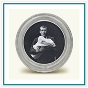 MATCH Pewter Lugano Round Frame, Sm. A865.0, MATCH Pewter Custom Picture Frames, Promo Frames