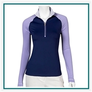 Fairway & Greene Ladies Kate Neve Zip Mock Custom Embroidery, Fairway&Greene Corporate Pullovers, Fairway&Greene Branded Pullover